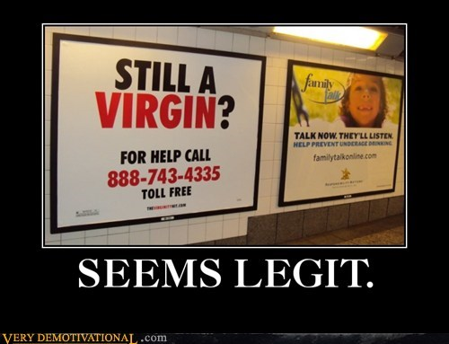hilarious seems legit sign virgin - 5761173760