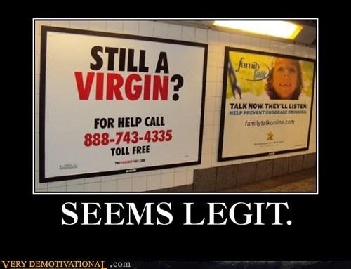 hilarious seems legit sign virgin - 5761173760