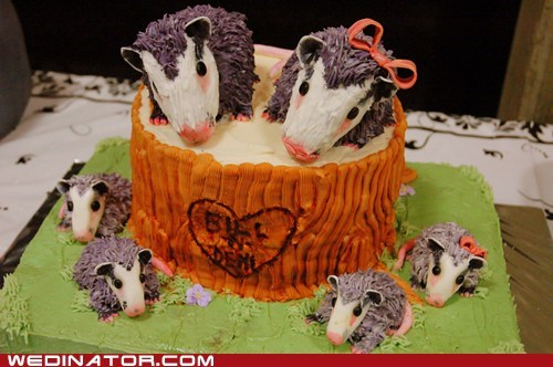 cakes funny wedding photos hedgehogs wedding cake - 5761393152