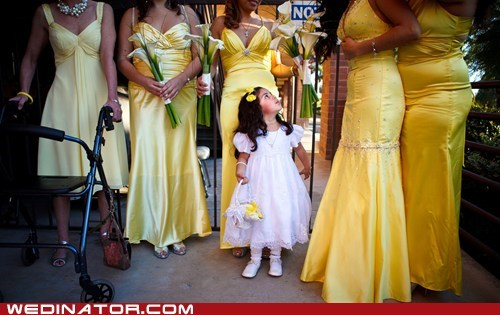 bridesmaids children flower girl funny wedding photos kids