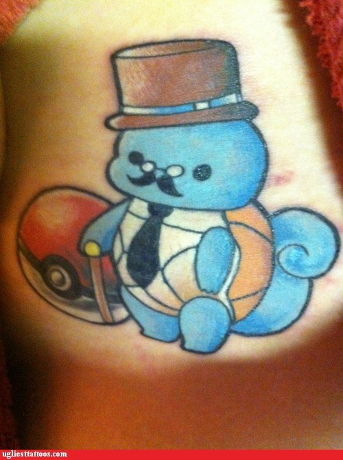 english gentlemen,g rated,Hall of Fame,i say,Pokémon,squirtle,Ugliest Tattoos