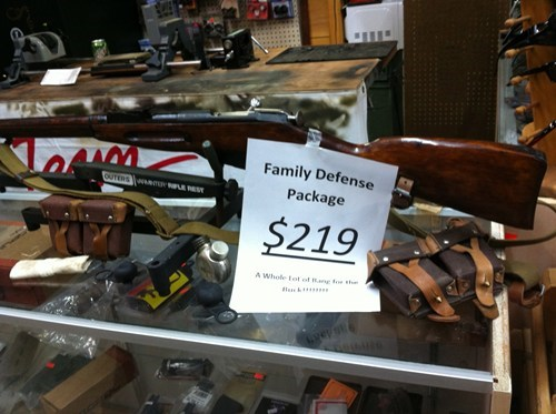 family defense guns NRA dream package six shooters for the kids so many guns