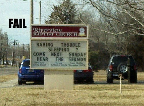 church signs clever marketing religion wtf
