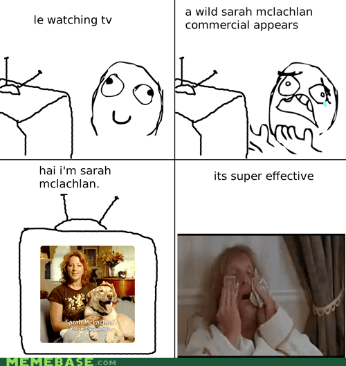 commercial,Rage Comics,Sad,Sarah McLachlan,TV