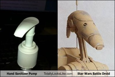 battle droid,funny,Hall of Fame,hand sanitizer,pump,star wars,TLL