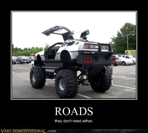 DeLorean back to the future funny roads