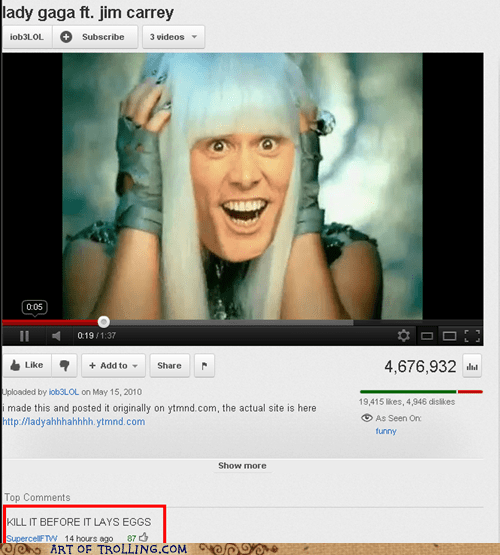 jim carrey kill lady gaga youtube - 5763426816