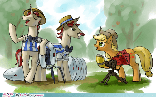 applejack art flim flam brothers PC Portal portal fortress 2 Team Fortress 2 video games - 5763431168