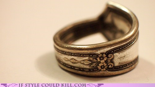 cool accessories,ring of the day,rings,silverwear,spoons