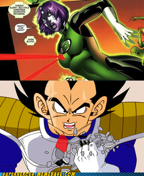 Dragon Ball Z Green lantern over 9000 Super-Lols vageta - 5763624448