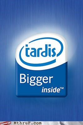 bigger inside,doctor who,Hall of Fame,intel,logo,tardis