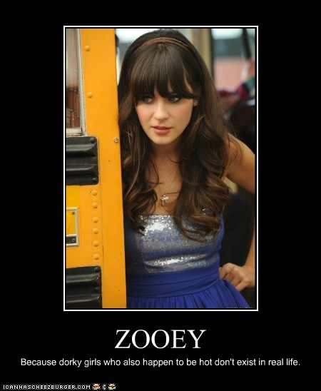 actor celeb demotivational funny Hall of Fame zooey deschanel