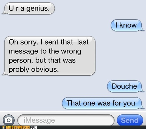 douche genius insult wrong number