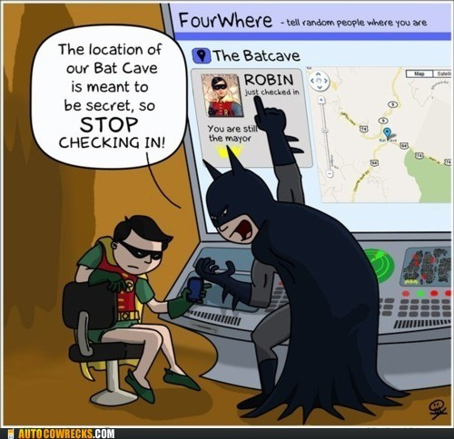 bat cave batcave batman comic foursquare location robin superheroes - 5763947008