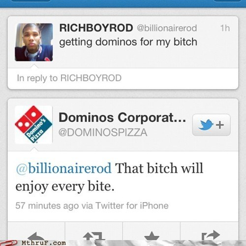dominos,enjoying every bite,getting pizza,pizza,twitter