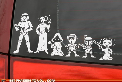 boba fett,family,Princess Leia,star wars,sticker,stormtrooper