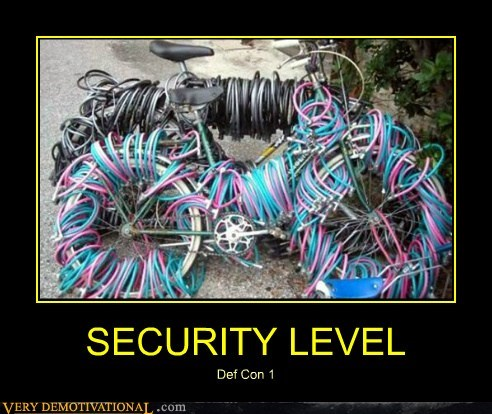 bike good idea hilarious security - 5764229632
