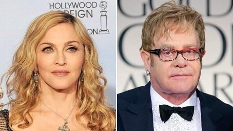 Celebrity Beef,elton john,Madonna