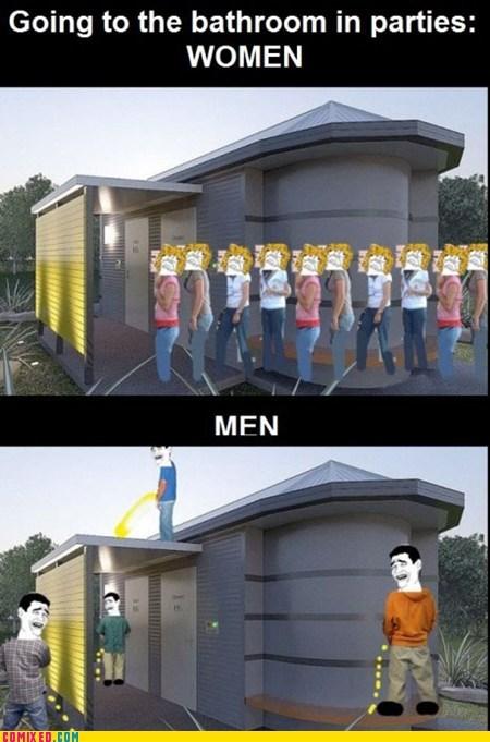 bathroom,number one,pee,the internets,urine,women-vs-men