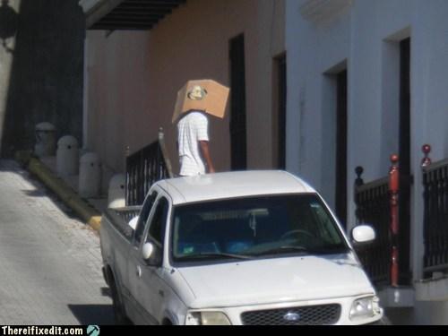 cardboard clothing dual use hat - 5764473600