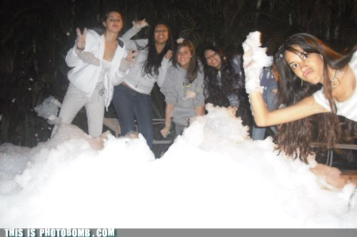 covered,foam,girl,girls,Party,Perfect Timing