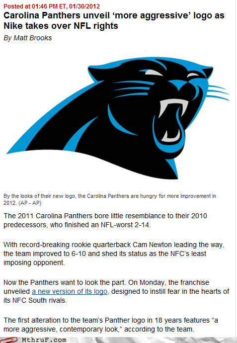 aggressive logo,football,from the marketing department,nfl,panthers,the Big Game