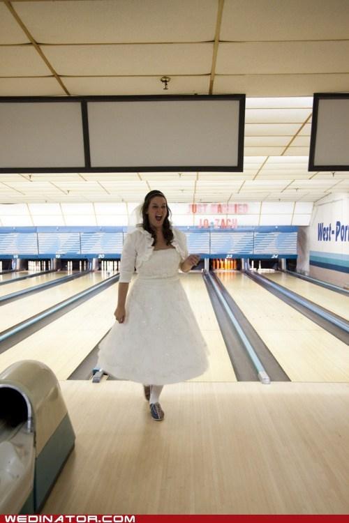 bowling bride funny wedding photos strike - 5764582656