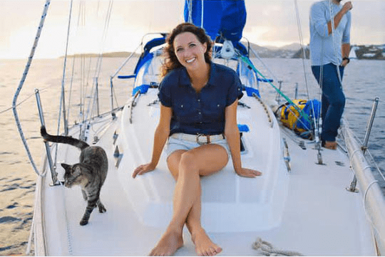 sailing traveling boat Cats couple - 5764613