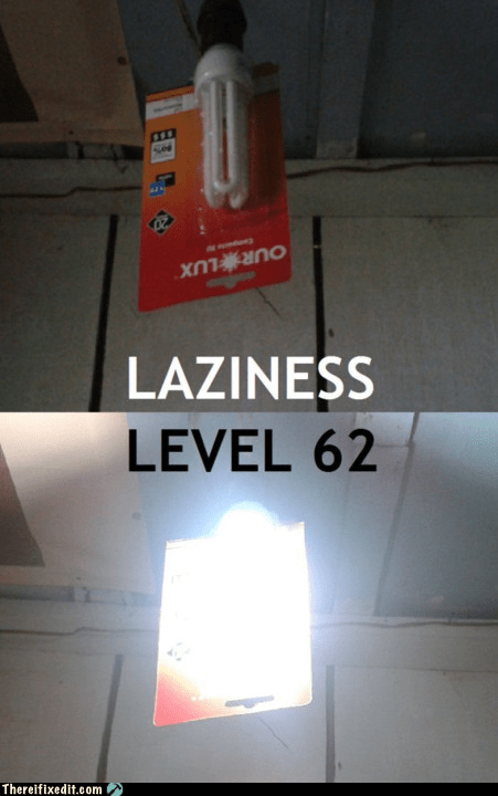 electrical fire g rated Hall of Fame laziness lightbulb safety first there I fixed it - 5764640768