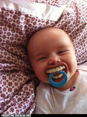 adult teeth baby teeth g rated Hall of Fame horrifying pacifier Parenting FAILS - 5764663552