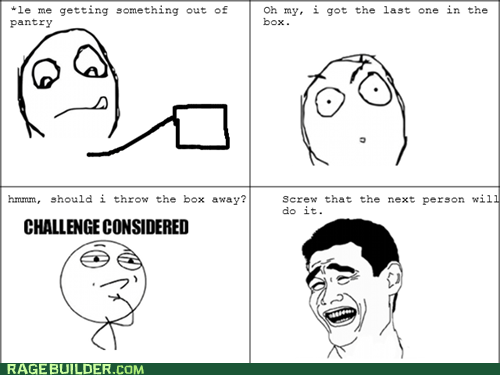 challenge considered,last one,pantry,Rage Comics