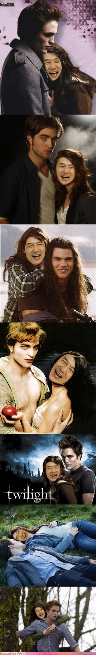 fake funny Hall of Fame Jackie Chan robert pattinson shoop taylor lautner twilight - 5764719104