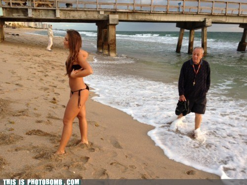 beach bikini dat ass girls old guy what an ass