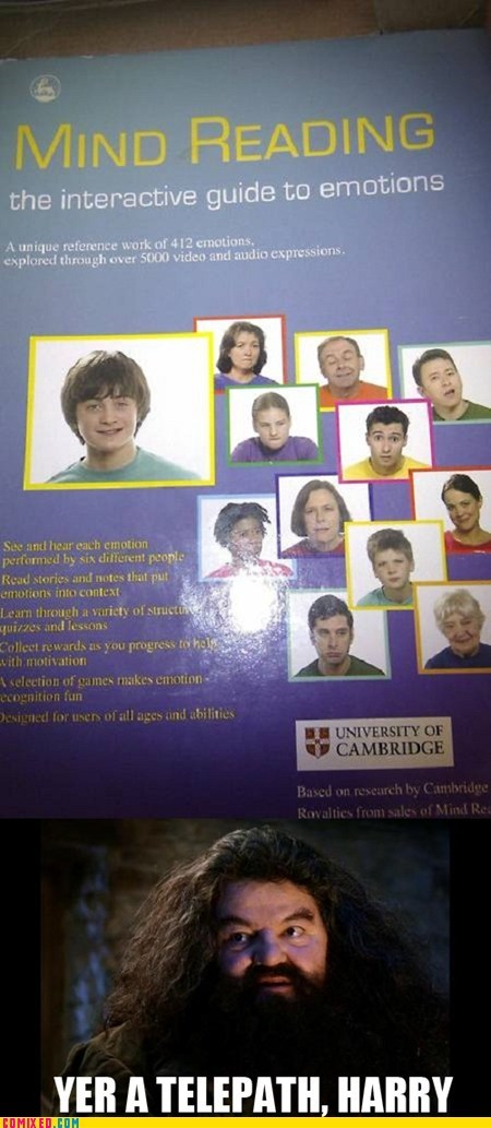as a kid Daniel Radcliffe emotions Harry Potter mind reading - 5765059584