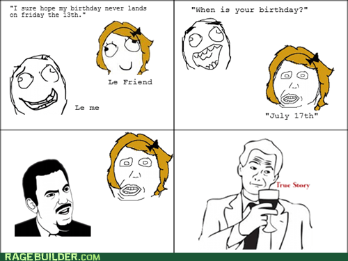 birthday math Rage Comics true story - 5765125120