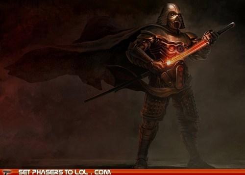 boba fett characters darth vader Japan samurai star wars stormtrooper yoda - 5765160448