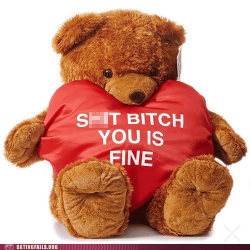 aww bad words dating fails fine Hall of Fame teddy bear Valentines day - 5765185792