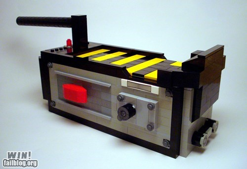 80s Ghostbusters lego model Movie nerdgasm toy