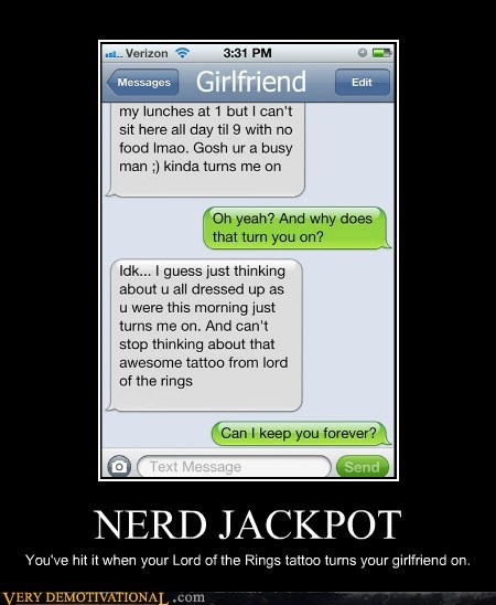 hilarious jackpot Lord of the Rings nerd