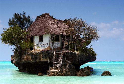 amazing,getaways,island,ocean,restaraunt,tanzania,zanzibar