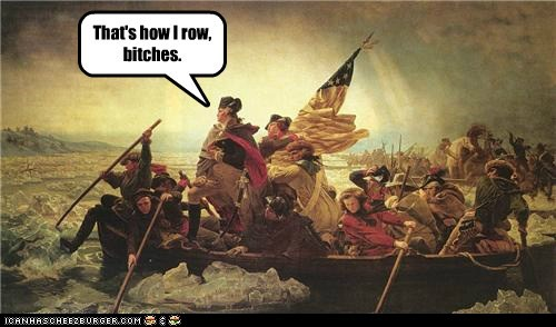 american history art george washington historic lols how i roll how i row painting Potomac river - 5765673472
