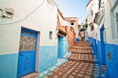 africa architecture blue getaways morocco northern africa walkway - 5765697792