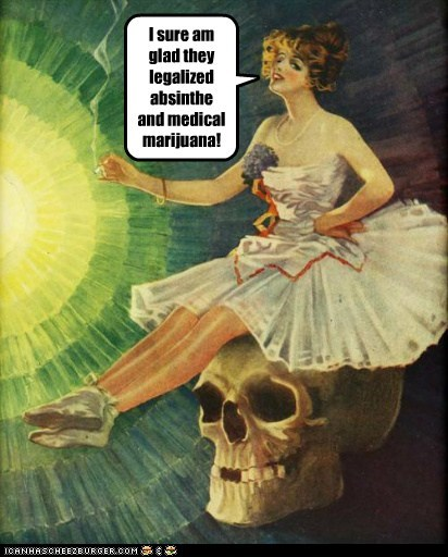 absinthe awesome drinking drugs high historic lols marijuana stoned vintage - 5765721600