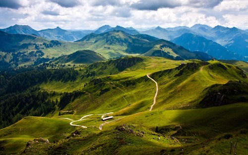 austria clouds europe getaways green hills mountains tyrol - 5765744896