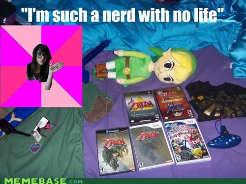 fan,Idiot Nerd Girl,life,nerd,zelda