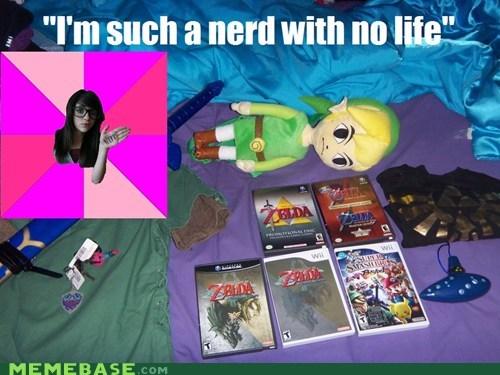 fan Idiot Nerd Girl life nerd zelda - 5765920512
