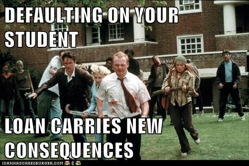 consequences default dylan moran kate ashfield Shaun Of the dead Simon Pegg student loans zombie - 5765949184