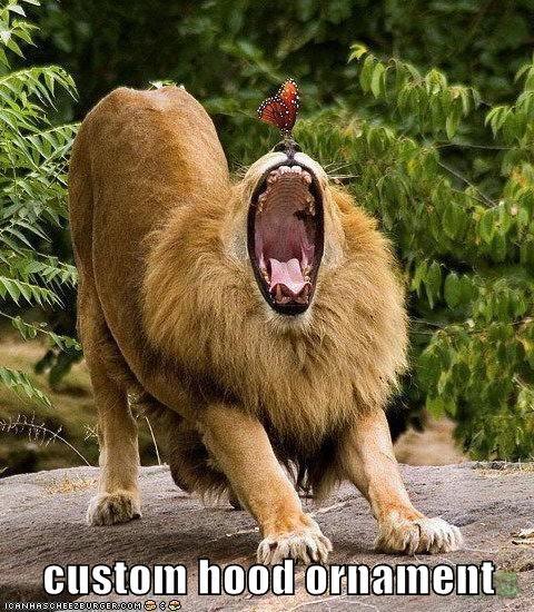 lion hood ornament - 5765965568