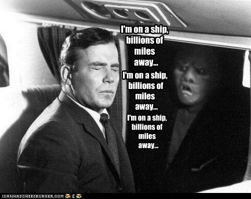 billions,Captain Kirk,gremlin,Shatnerday,ship,twilight zone,William Shatner