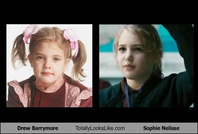 celeb,drew barrymore,funny,sophie nelisse,TLL